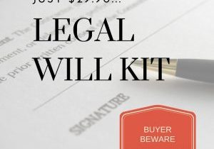 Legal Will Kit Issues